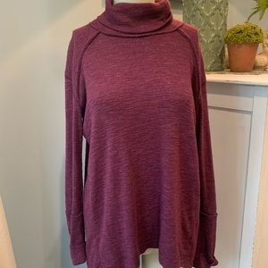 Free People Cranberry Turtle Neck Sweater
